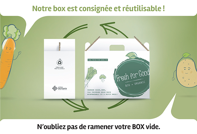 Box de fruits et légumes consignée et réutilisable