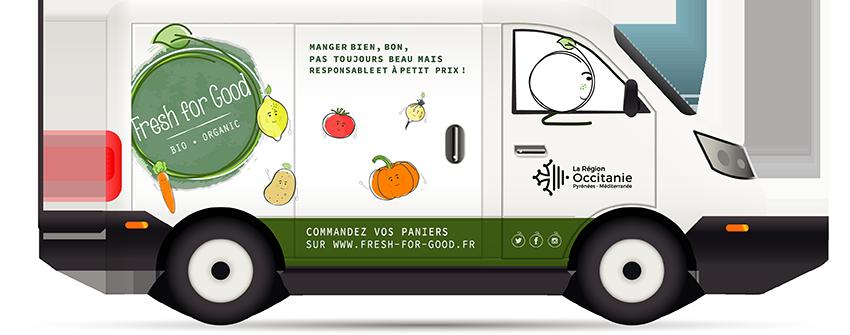 camion de fruits et légumes fresh for good